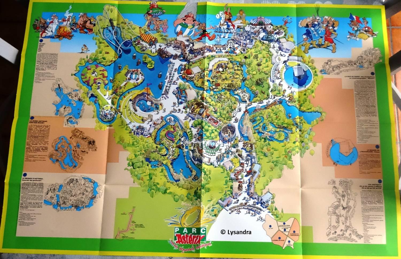 Dépliants, plans, tickets du Parc Astérix 08GwO