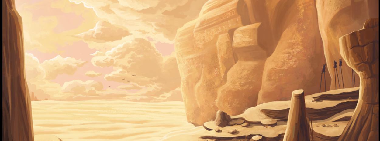Les rochers ensablés