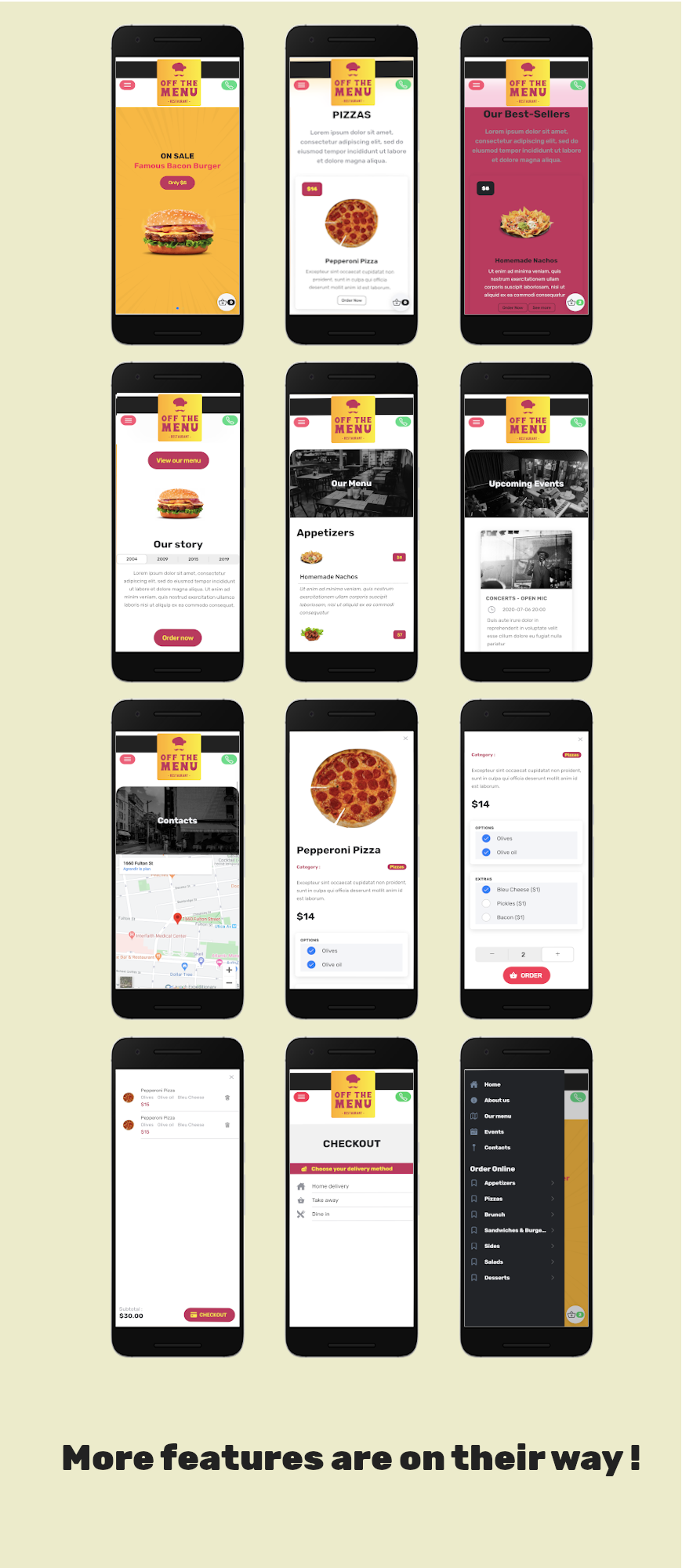 Off The Menu Restaurant - Ionic 5 template food ordering / Firebase backend - 1