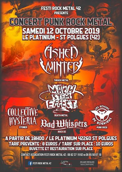 CONCERT PUNK-ROCK-METAL [St-POLGUES - 42] > 12-10-2019