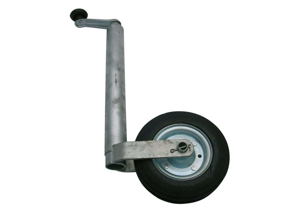 Support collier fixation de timon roue jockey remorque caravane bateau 48 mm