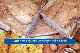 Pain vegan facile sans gluten