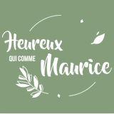 logo blanc Heureux qui comme Maurice