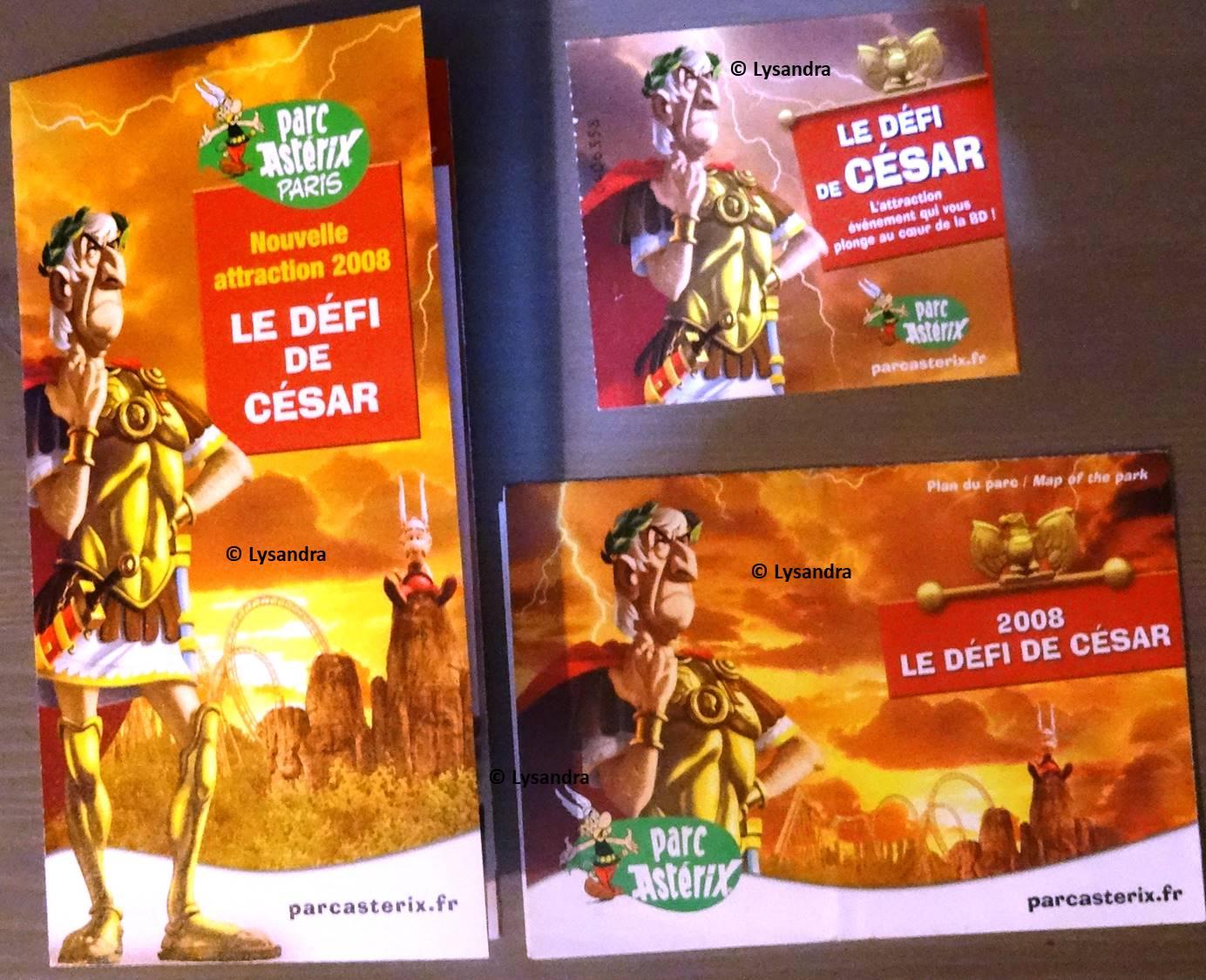 Dépliants, plans, tickets du Parc Astérix 3egaa