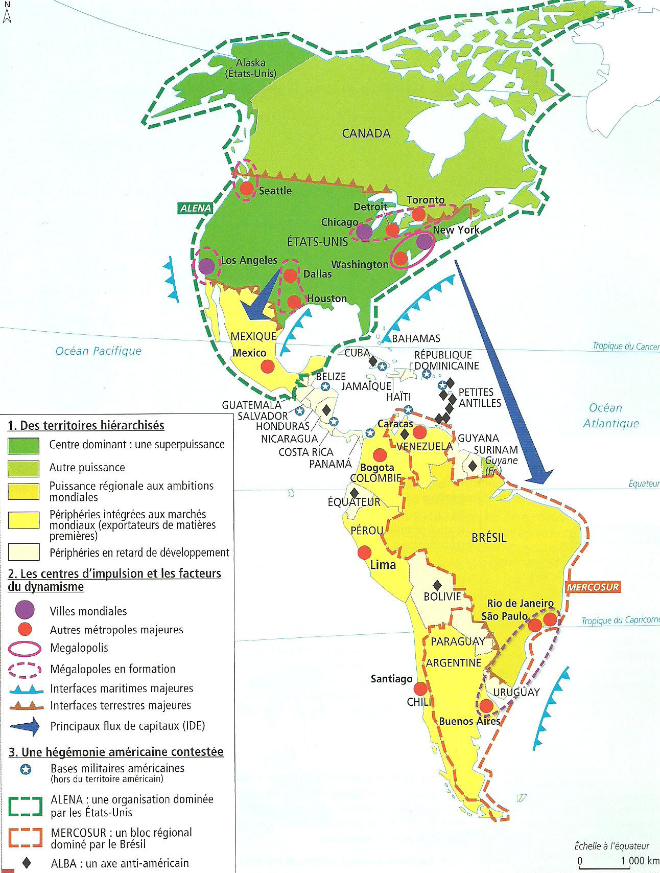 Carte Amerique Puissance Du Nord Affirmation Du Sud.L Amerique Puissance Du Nord Affirmation Du Sud Page 4 Dhg