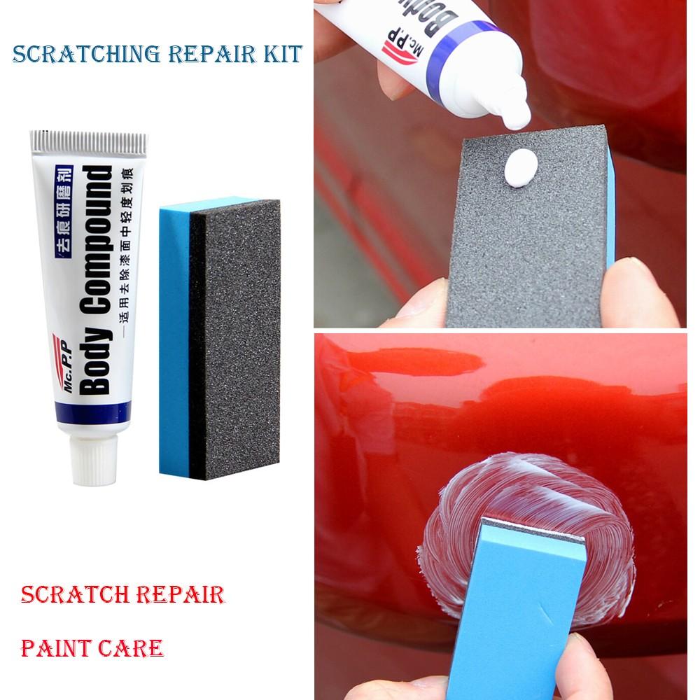 kit repair voiture peinture d fauts soins auto polissage enlever rayures eponge ebay. Black Bedroom Furniture Sets. Home Design Ideas