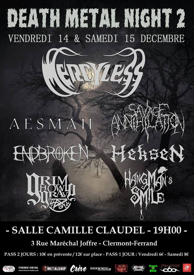 DEATH METAL NIGHT 2 [Clermont-Ferrand - 63] > 14-12-2018