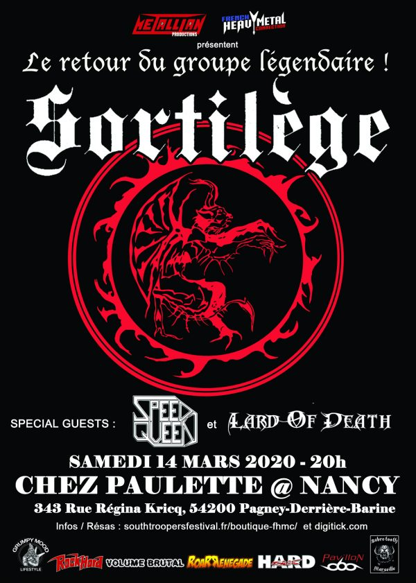 SORTILEGE [Nancy - 54] > 14-03-2020