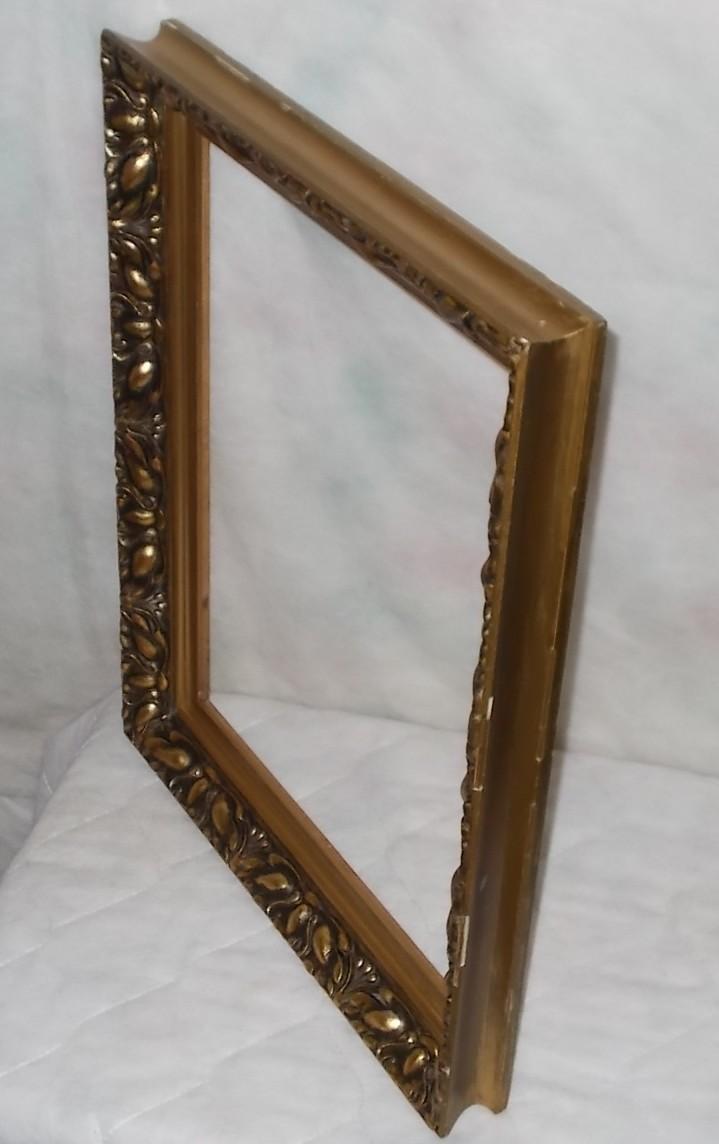ancien tr s beau cadre bois stuc gros feuillages fleurs art nouveau pour 35x46cm ebay. Black Bedroom Furniture Sets. Home Design Ideas