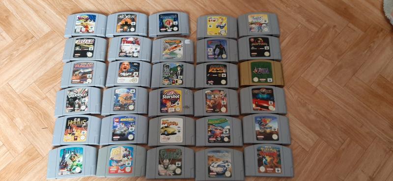(VDS) grot lot nintendo 64 console en boite,jeux en boite,80 jeux en loose JEUX NES en boite!! 0v188