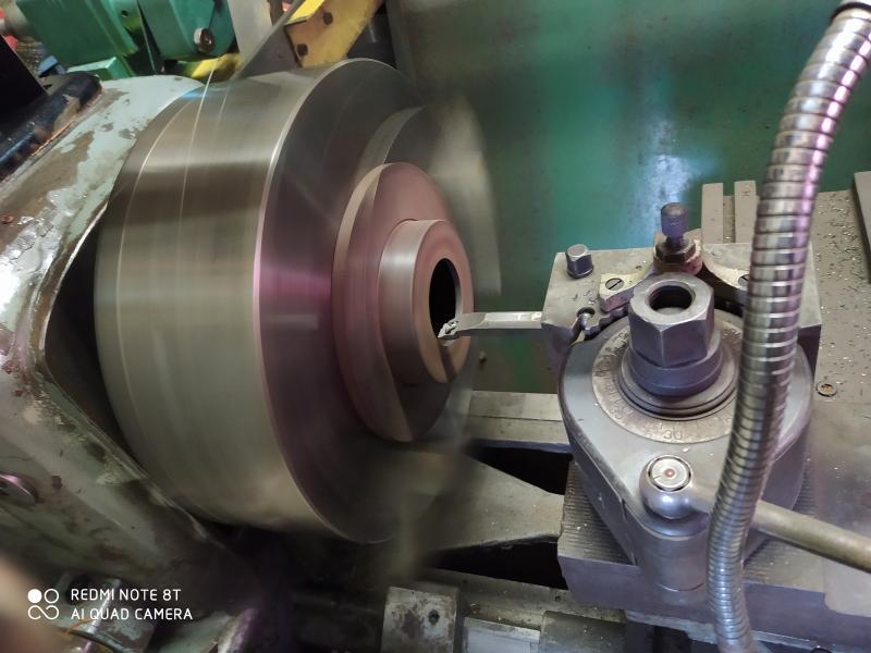Installation d'un frein sur un tour qui n'en est pas equipé 12JZA