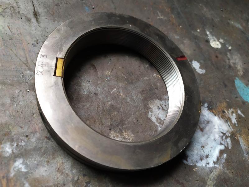 Remplacement des roulements de broche sur tour Graziano SAG 508 DAdp8