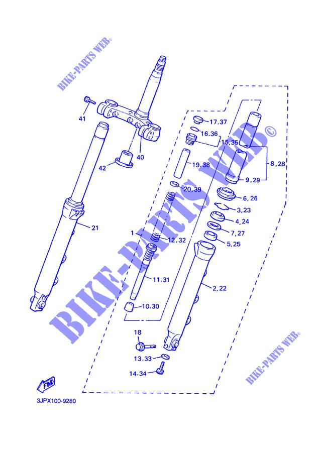 Joint de bouchon fourche en 43 mm K3Jrm
