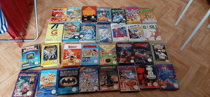 (VDS) grot lot nintendo 64 console en boite,jeux en boite,80 jeux en loose JEUX NES en boite!! NJREy