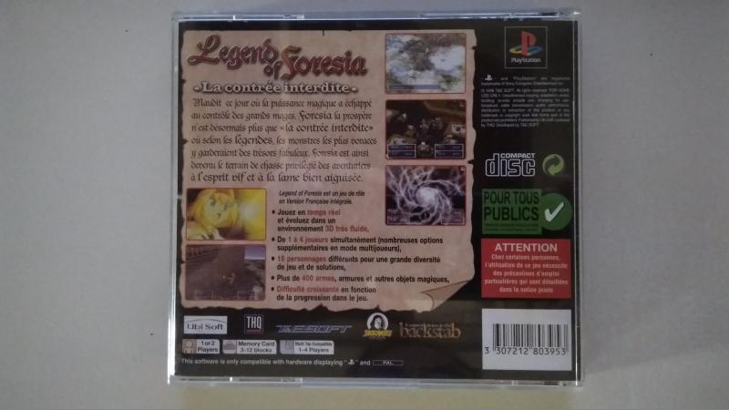 [Vds] Legend of Foresia PS1 - Complet - Excellent état - 80 in ---> 50 in ---> 40 in Pl5LO