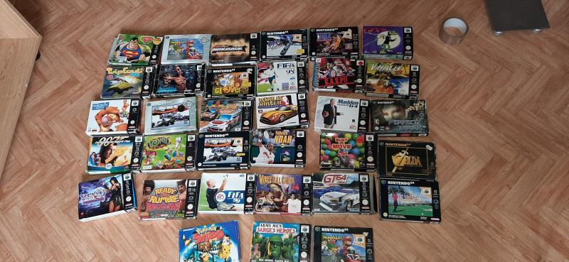 (VDS) grot lot nintendo 64 console en boite,jeux en boite,80 jeux en loose JEUX NES en boite!! WJy9N