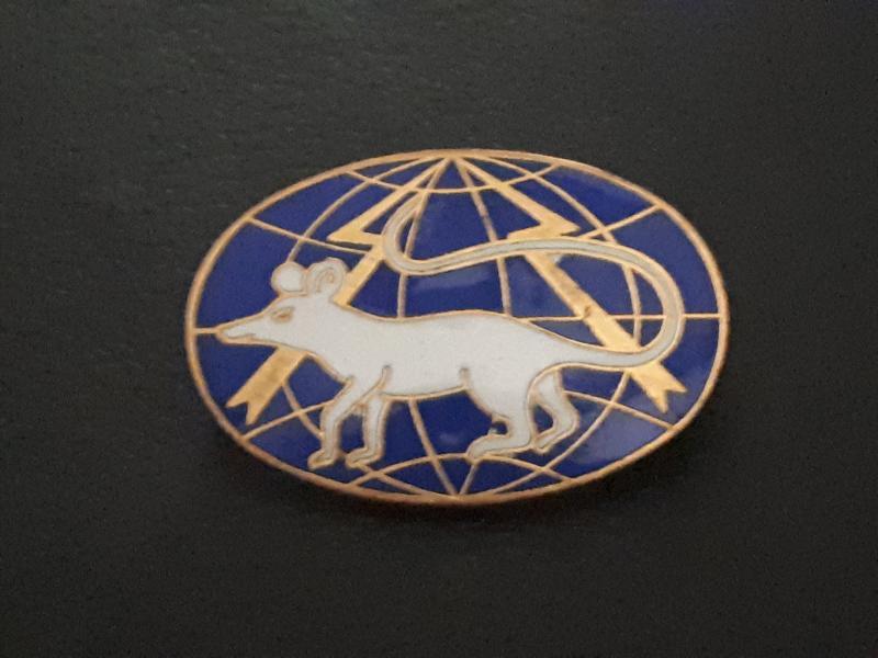 insigne ovale rat blanc WoovN