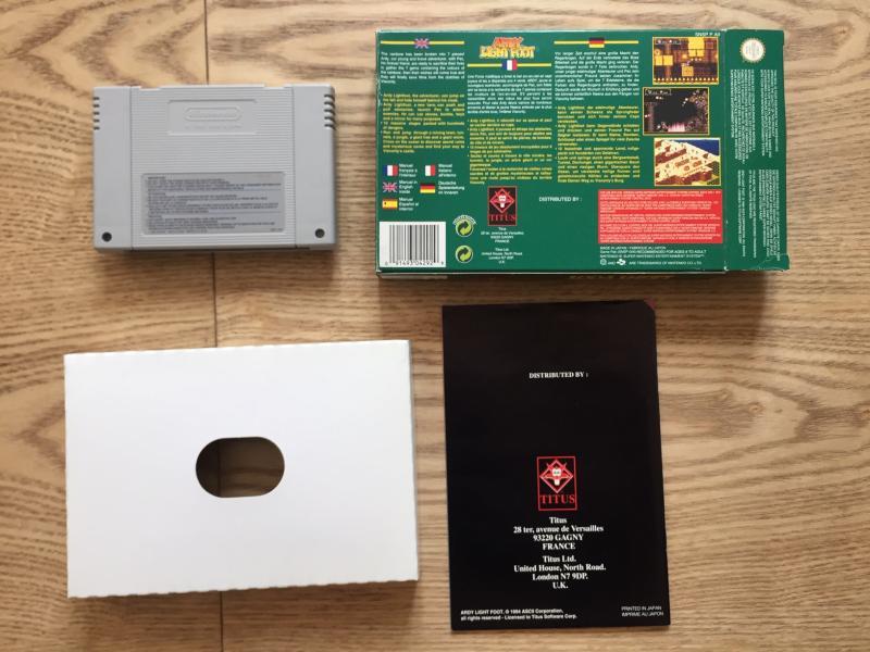 [EST] Eric Cantona, Elite et Firehawk complets sur NES + Ardy light foot Mint ZOP9l