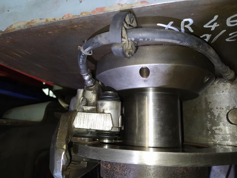 Installation d'un frein sur un tour qui n'en est pas equipé A1eDG