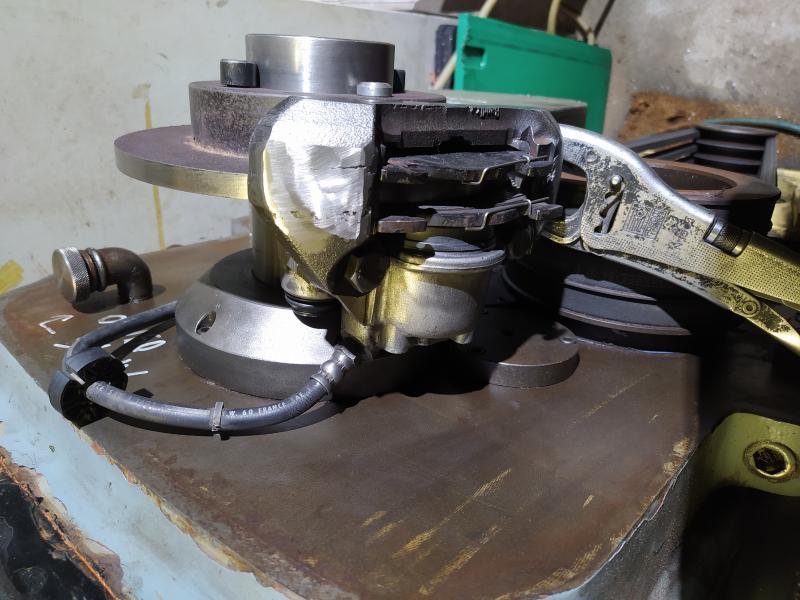 Installation d'un frein sur un tour qui n'en est pas equipé GA4DW