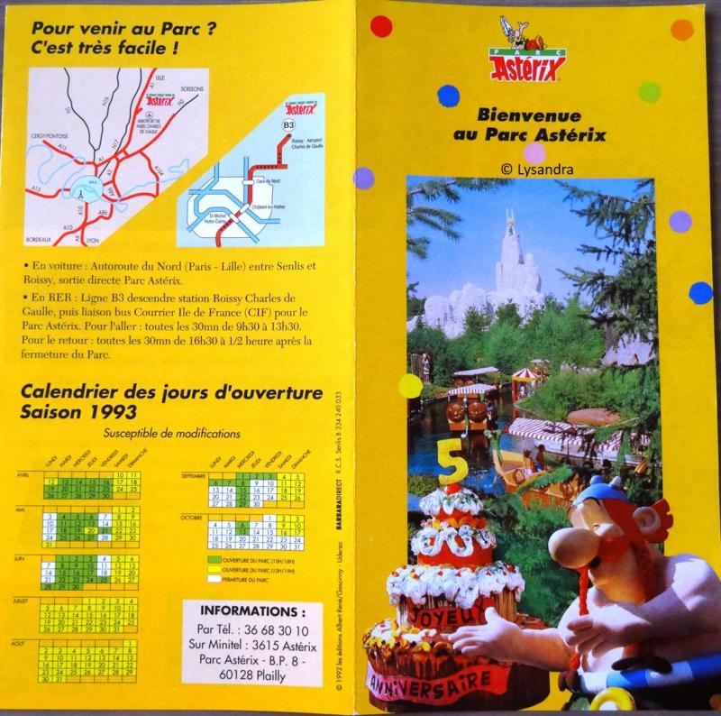 Les dépliants / plans et tickets du Parc Garbe