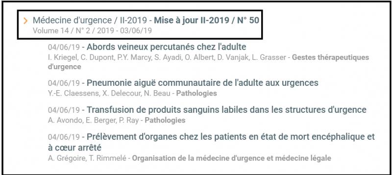 EMC Médecine d'urgence Mise à jour II-2019 J5Z9e