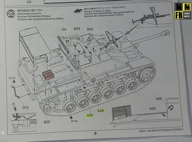 Tamiya Sturmgeschutz III - 1/35 JeDKk
