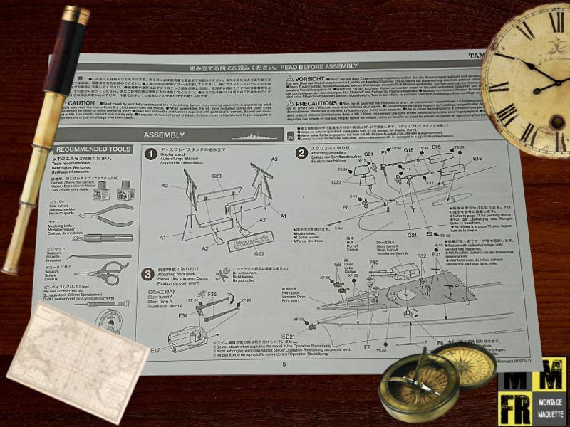 Bismarck 1/350 Tamiya  MvQvG