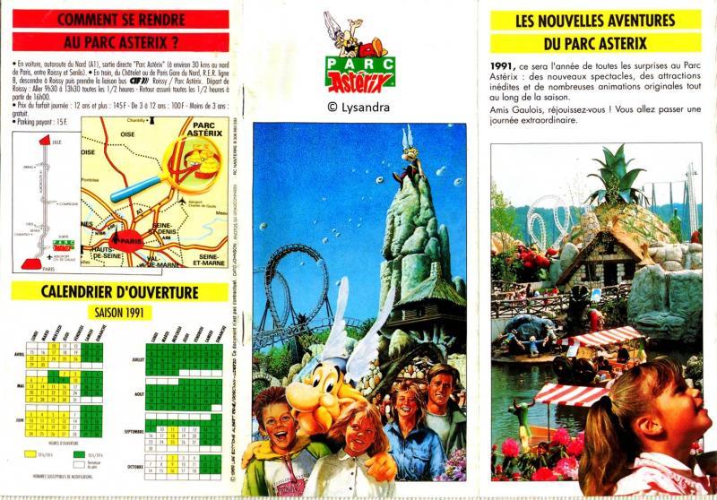 Les dépliants / plans et tickets du Parc Rww7