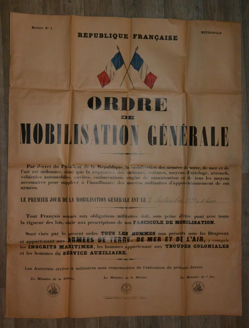 Affiche mobilisation générale 1939 VKEdg