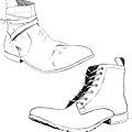 Quelques modèles dessinés pour le plan de comm d'une pote l'an dernier, dont le projet de fin d'année consistait à créer une ligne habillée de chaussures pour hommes. C'était un bon entraînement pour dessiner du pied ! Avec référence bien sûr.