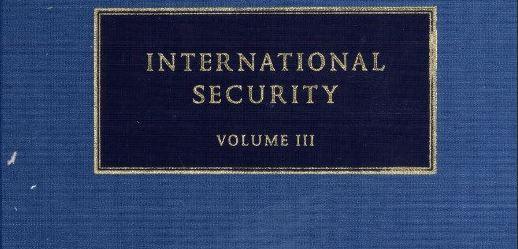 الأمن الدولي ، المجلد الثالث – باري بوزان