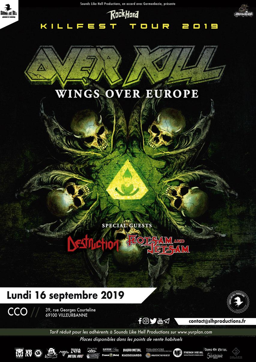OVERKILL [VILLEURBANNE - 69] > 16-09-2019