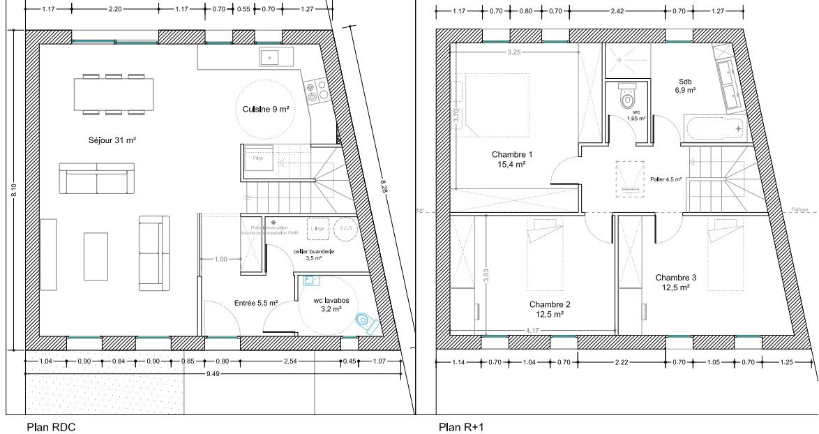maison tage 105 m 32 messages. Black Bedroom Furniture Sets. Home Design Ideas