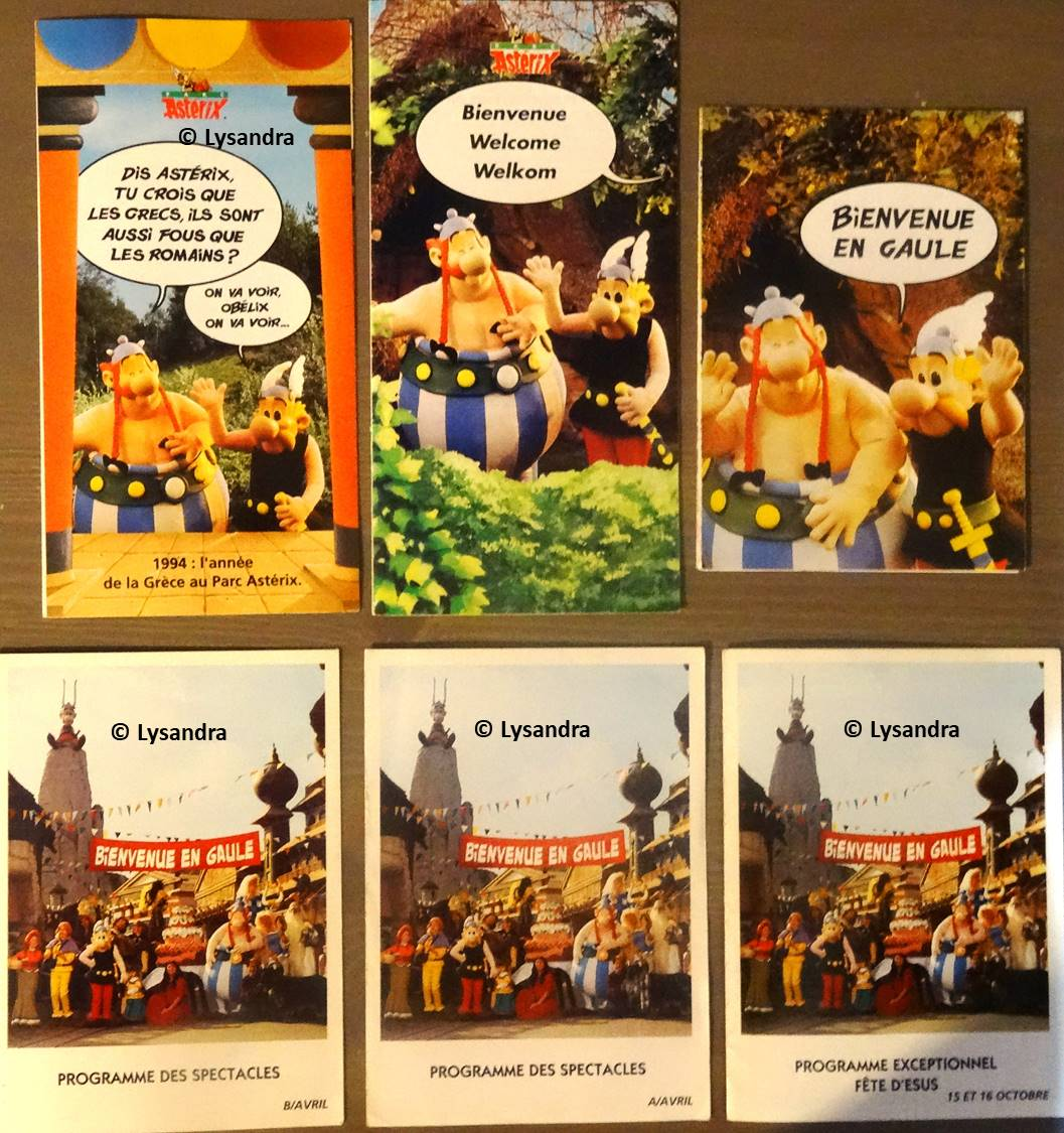 Dépliants, plans, tickets du Parc Astérix Am98w