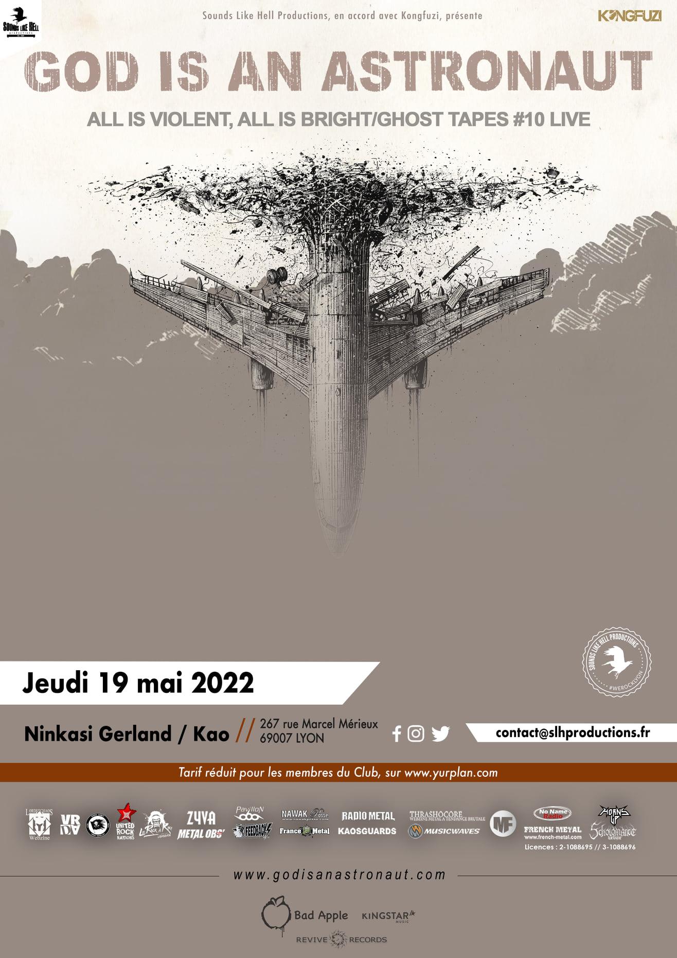 GOD IS AN ASTRONAUT [Lyon - 69] > 19-05-2022