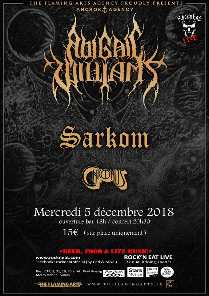 ABIGAIL WILLIAMS [Lyon - 69] > 05-12-2018