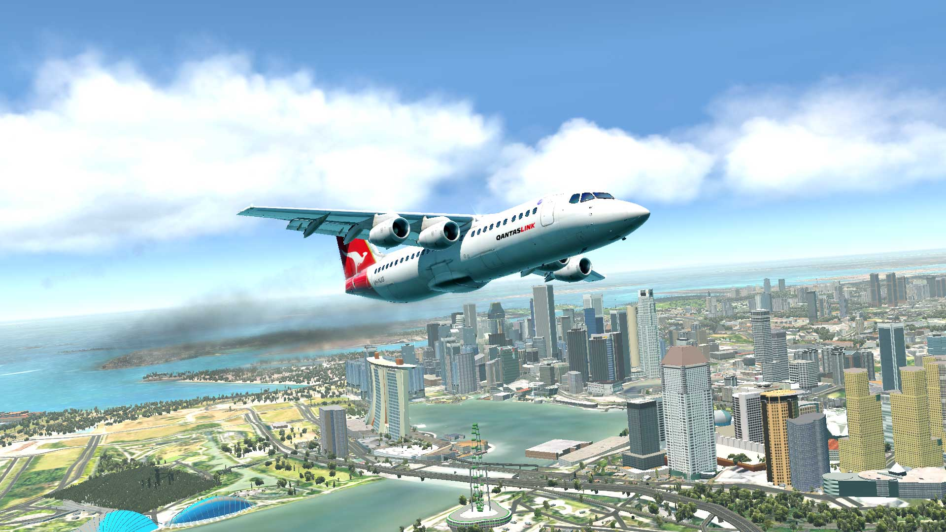 Landing in Singapore - X-Plane 11 Screenshots - X-Plane Org