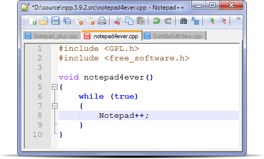 Utiliser Notepad++ pour programmer en NXC