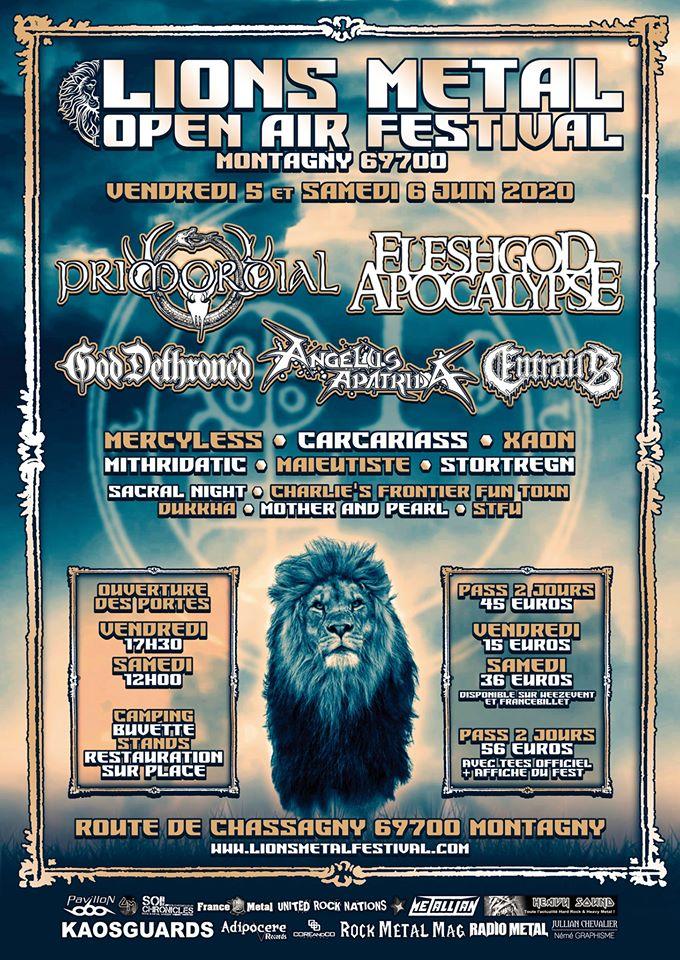 LIONS METAL FESTIVAL [Montagny - 69] > 05-06-2020
