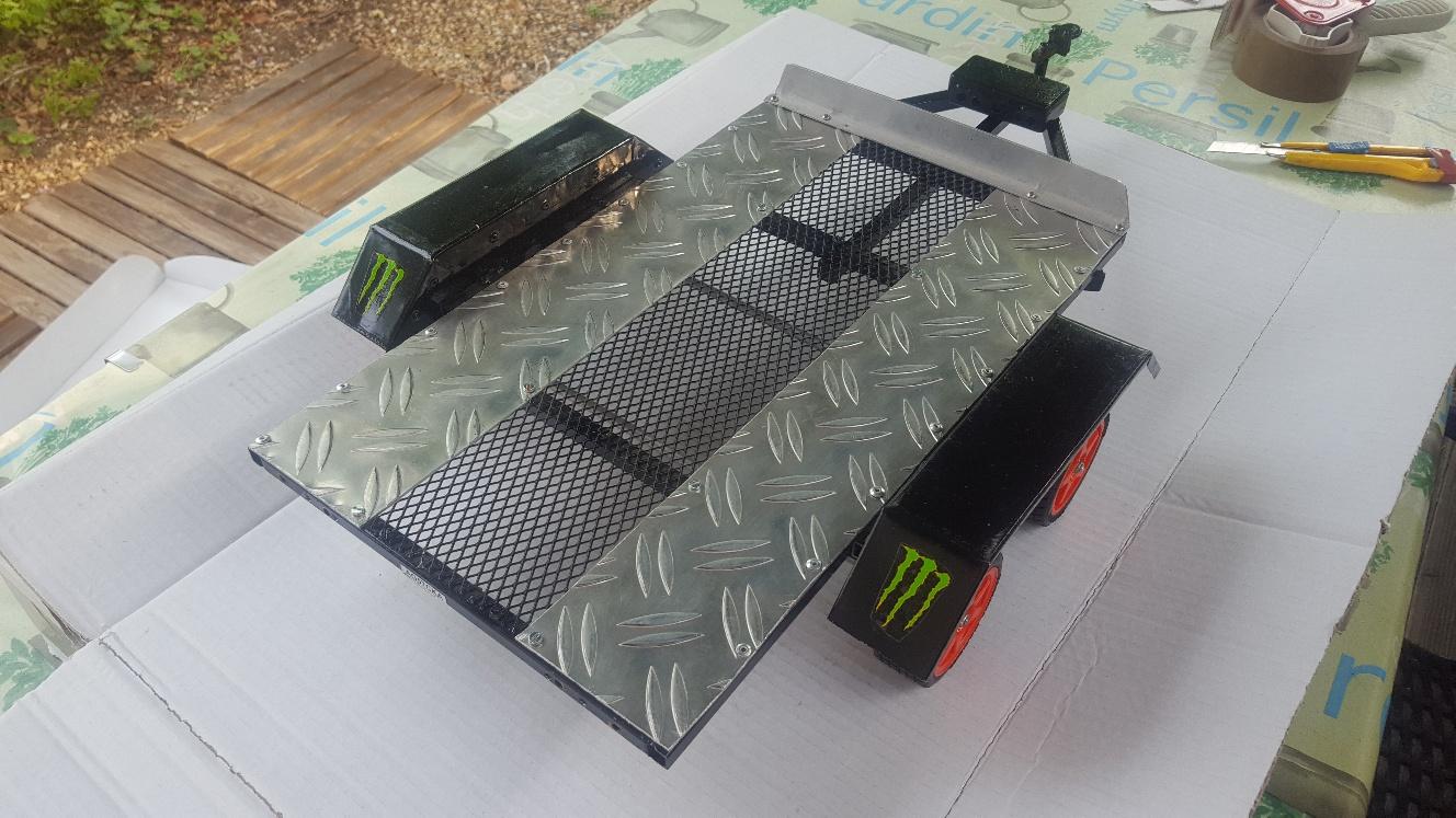 Fabrication remorque plateau à suspension ou balancier GnKgK