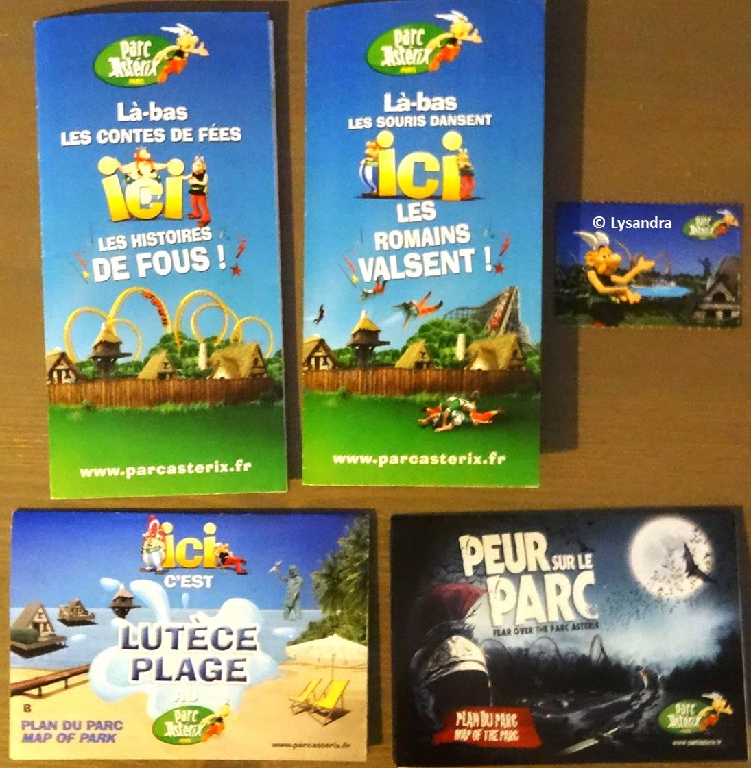 Dépliants, plans, tickets du Parc Astérix GoNY7