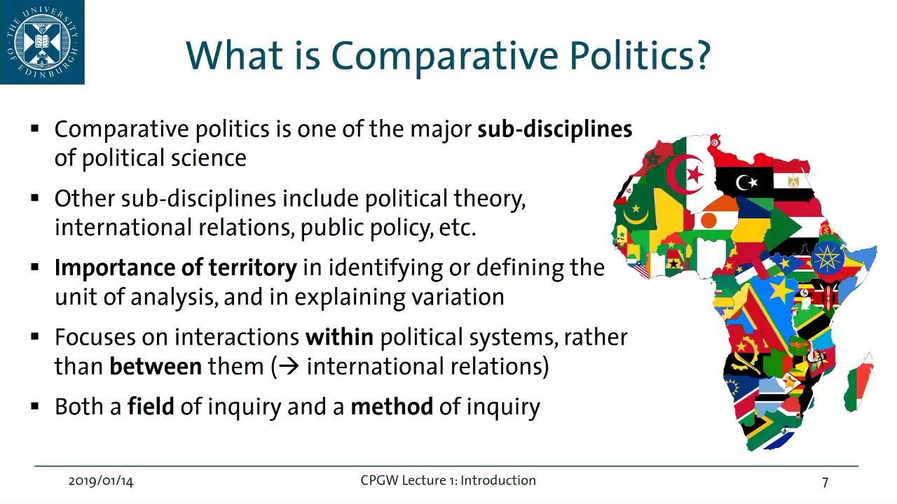 حقل السياسة المقارنة: اكتمال حلقة التخصص بين الجدالات المنهجية والتوجهات النظرية