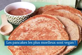 Pancakes maison faciles vegan et très moelleux