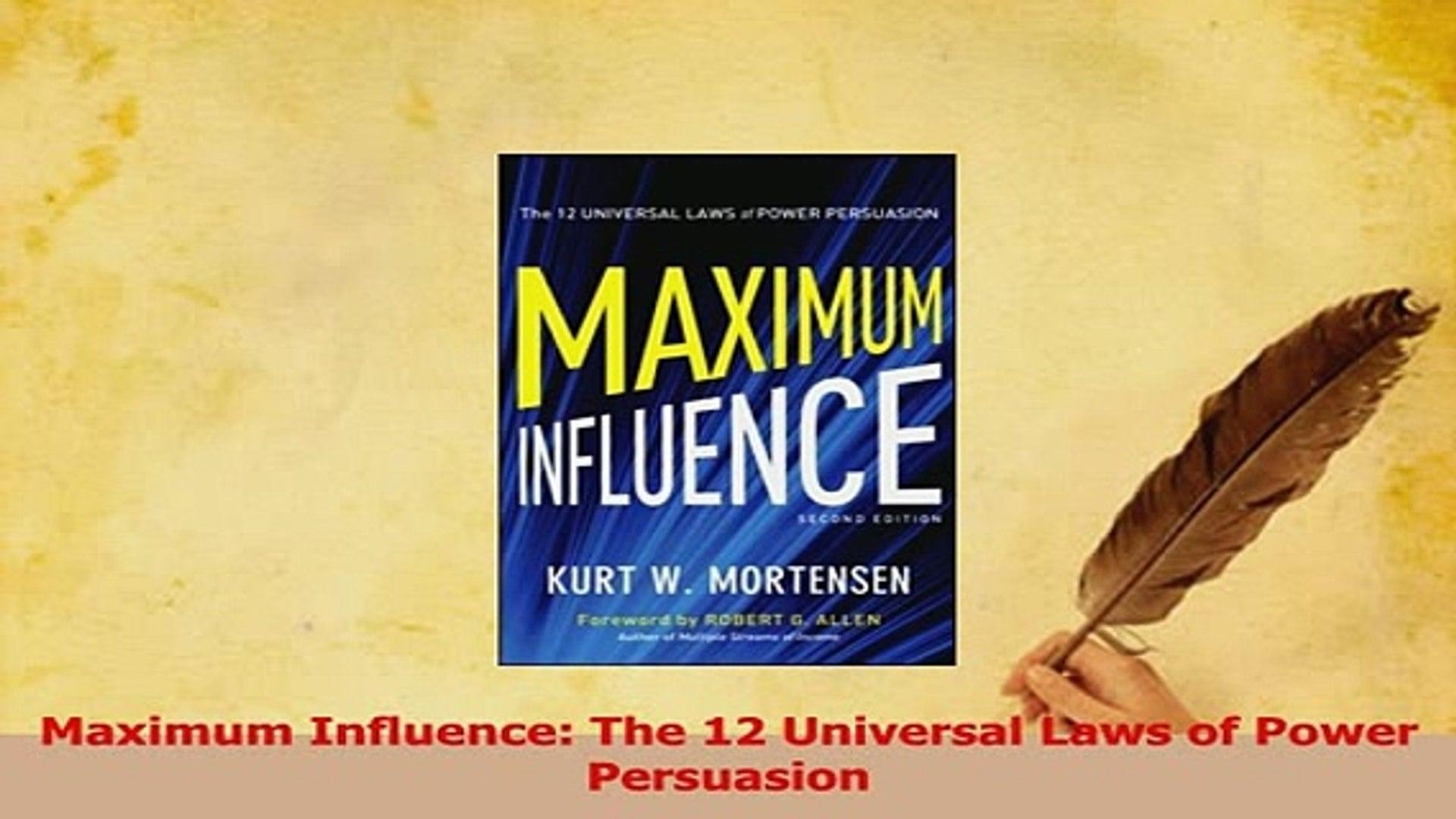 التأثير الأقصى: 12 من قوانين القوة العالمية للاقناع