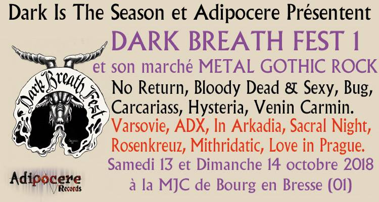 DARK BREATH FEST 1 [BOURG EN BRESSE - 01] > 13-10-2018
