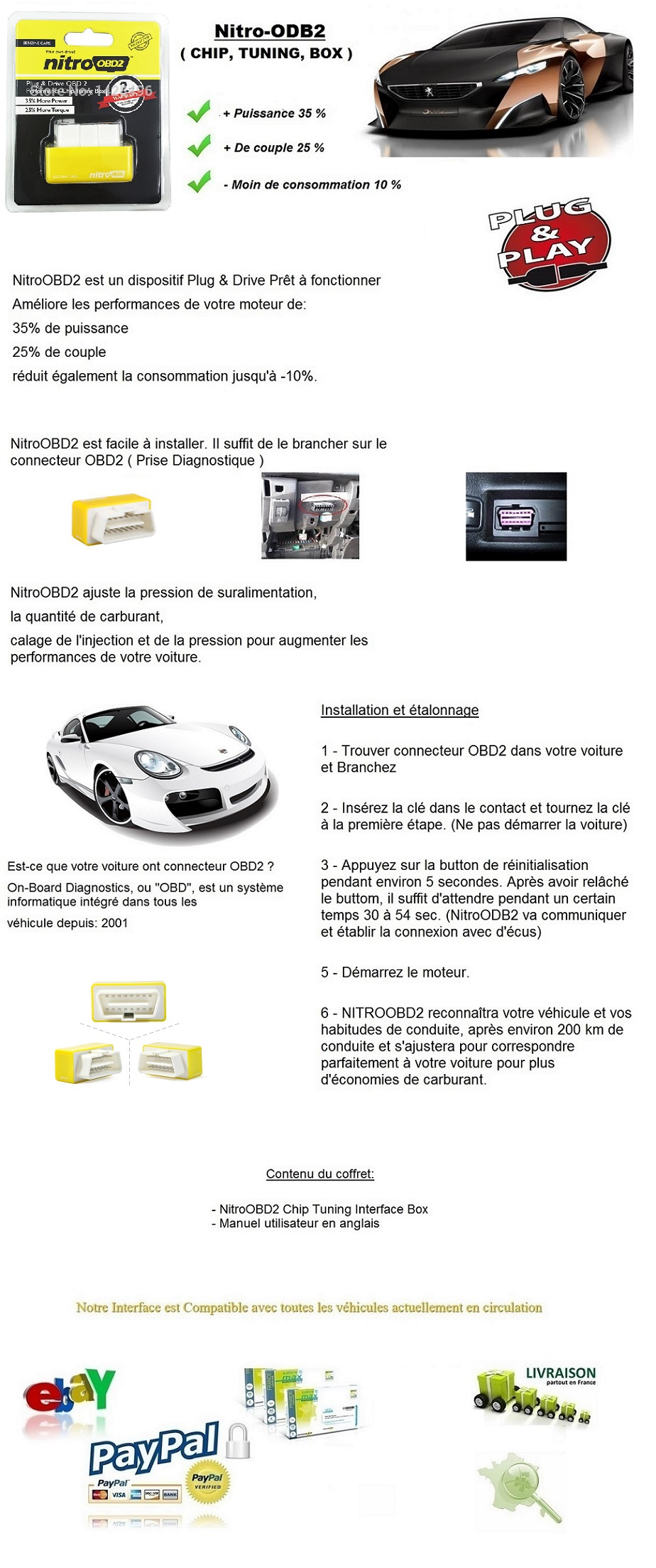 boitier additionnel obd2 chip box puce essence volvo xc60