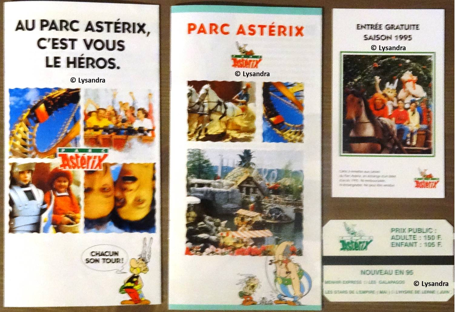 Dépliants, plans, tickets du Parc Astérix LO8nd