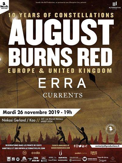 AUGUST BURNS RED [Lyon - 69] > 26-11-2019