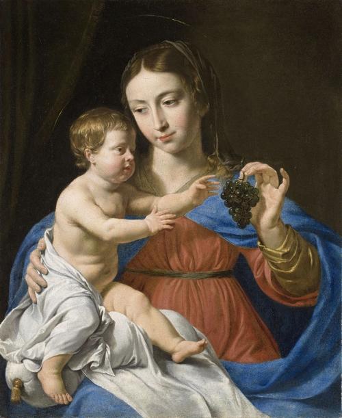 Vierge à la grappe — Philippe de Champaigne